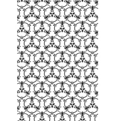 Hand-drawn abstract black and white seamless vector