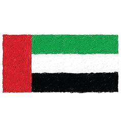 Hand drawn of flag of United Arab Emirates vector