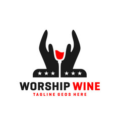 handmade wine logo vector image