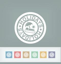 holidays summer stamp grunge vector image