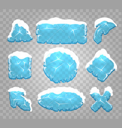 ice and snow interface buttons vector image