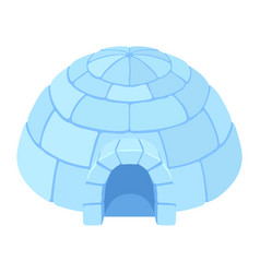 igloo ice house vector image