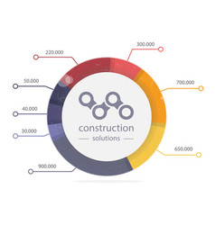 infographics circle round charts graphs vector image