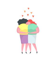 lesbian love couple kissing hugging homosexual vector image