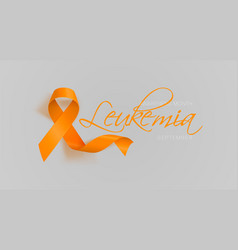leukemia awareness calligraphy poster design vector image