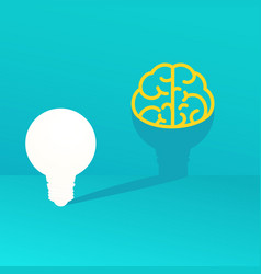 light bulb idea concept light bulb casts a shadow vector image