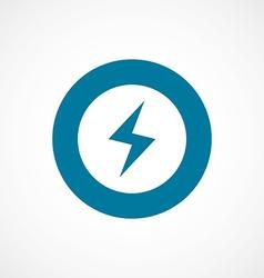 Lightning bold blue border circle icon vector