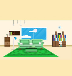 Living room or office design interior relax with vector