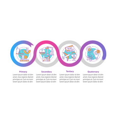 Manufacturing process infographic template vector