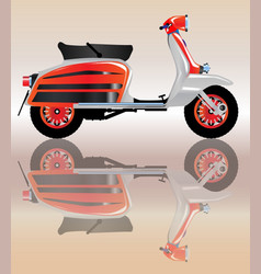 Mod scooter reflection vector