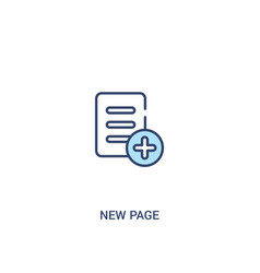 New page concept 2 colored icon simple line vector