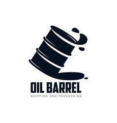 Oil fuel barrel oil drop simple flat icon vector