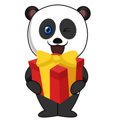 padna with birthday present on white background vector image