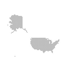 pixel map of usa mercator dotted map of usa vector image