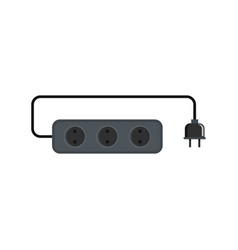 power outlet icon flat style vector image