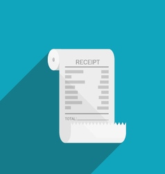 receipt bill roll icon flat design vector image