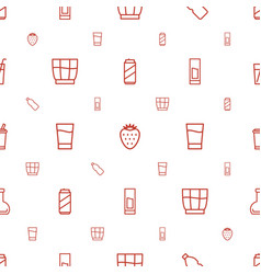 Refreshment icons pattern seamless white vector