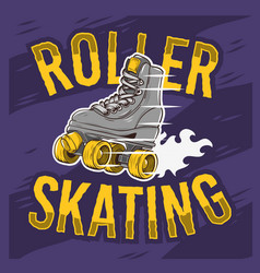 Roller skating design with a classic model roller vector