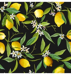 Seamless Pattern Lemon Fruits Background vector