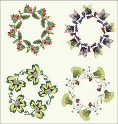 Set of beautiful hand drawn wreaths vector