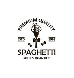 spaghetti pasta emblem vector image