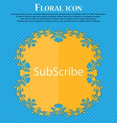 Subscribe sign icon Membership symbol Website vector image