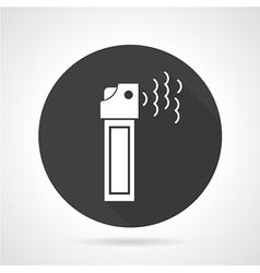 Tear gas black round icon vector image