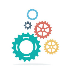 Template infographic with gear chain vector