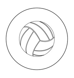 Volleyball icon outline single sport icon from vector