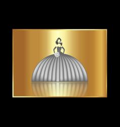 wedding logo gold bride salon concept isolated vector image