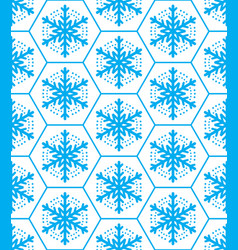 Winter pattern snowflakes seamless design xmas s vector