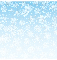 winter sky with snowflakes vector image
