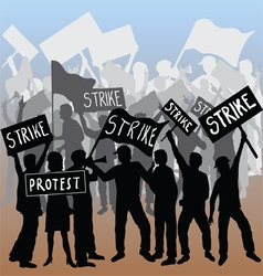 Workers strike and protest vector image