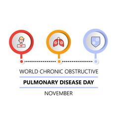 World chronic obstructive pulmonary disease day vector