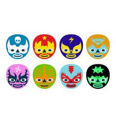Wrestlers masks vector