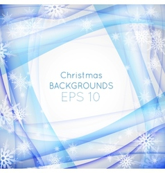 Blue wave christmas background vector image vector image