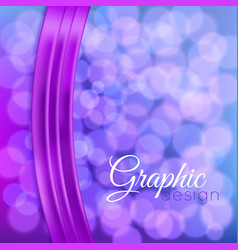 bokeh background with a ribbon vector image vector image