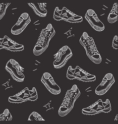 boots doodle seamless pattern vector image vector image