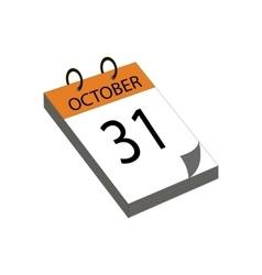 Calendar halloween vector image