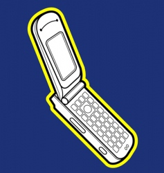 flip mobile phone vector image vector image