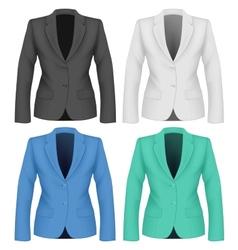 Formal work wear Ladies suit jacket vector image vector image