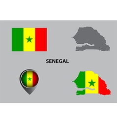 Map of Senegal and symbol vector image