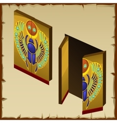 Door in the Egyptian style with scarab image vector image