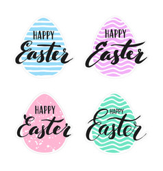happy easter lettering for sticker vector image vector image