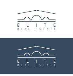 real estate logo template vector image