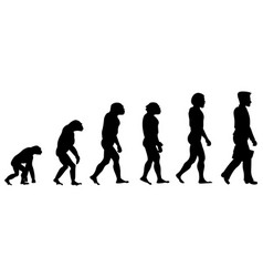 silhouette progress man evolution vector image