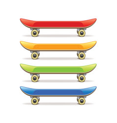 skateboard set isolated vector image vector image