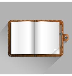 brown notebook vector image vector image