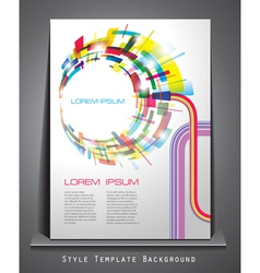 business style abstract background vector image vector image
