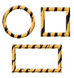 construction warning border set vector image